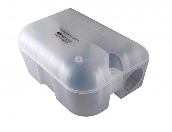 Schlagfalle und Fraßköder-Sicherheitsbox für Ratten